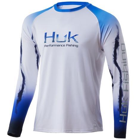 HUK Flare Double Header Deep Cobalt Men's Long Sleeve