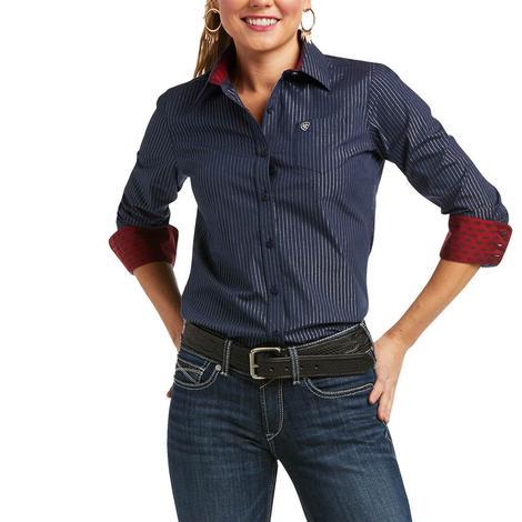Ariat Kirby Stretch Lurex Pinstripe Long Sleeve Women's Shirt