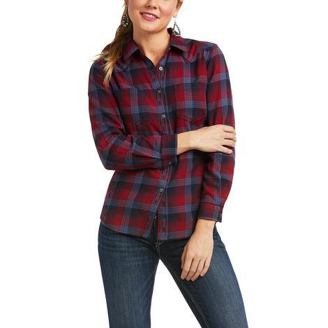 Ariat R.E.A.L. Billie Jean Fireside Plaid Long Sleeve Women's Shirt