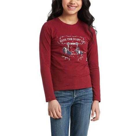 Ariat R.E.A.L. Kick the Dust Up Girl's Tee