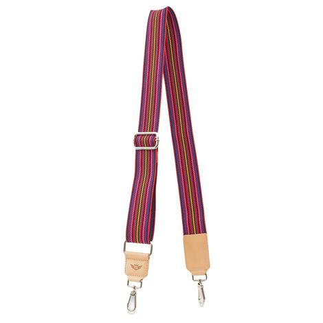Consuela Pink Webbing Crossbody Strap 53mm