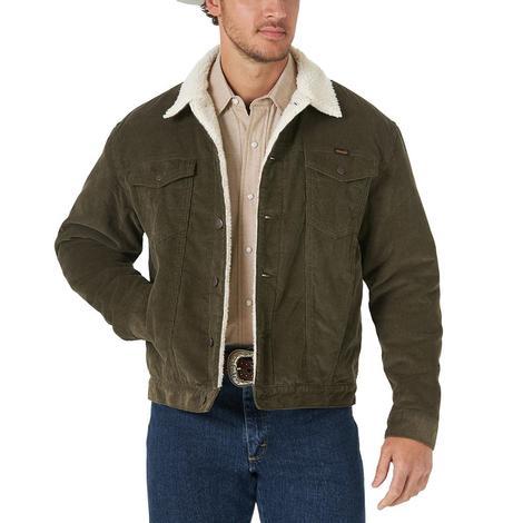 Wrangler Farmer Olive Corduroy Sherpa Lined Men's Jacket