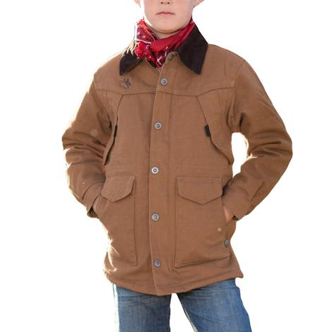 Wyoming Traders Tan Canvas Kid's Ranch Coat