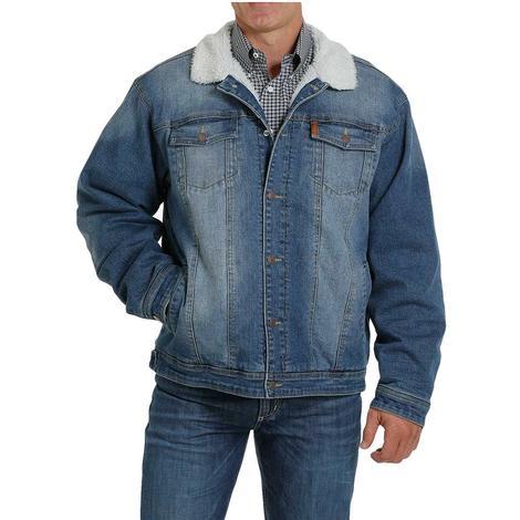 Cinch Denim Sherpa Lined Trucker Men's Jacket