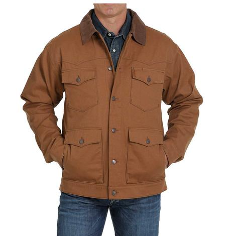 Cinch Brown Cotton Canvas Lined Men's Jacket - Extended Sizes
