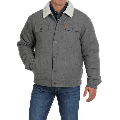 Cinch Grey Wool Concealed Carry Men's Trucker Jacket