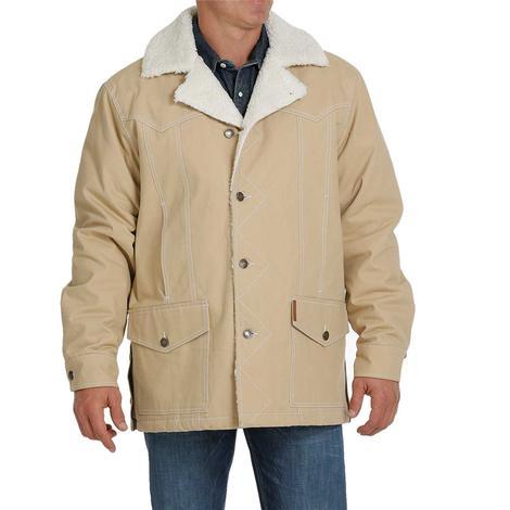 Cinch Khaki Cotton Canvas Sherpa Lind Men's Jacket