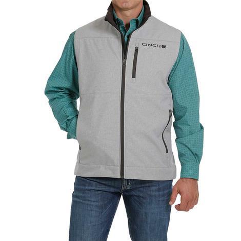 Cinch Light Grey Textured Bonded Men's Vest