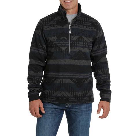 Cinch Dark Blue Tonal Aztec Print Sweater Knit Men's Pullover