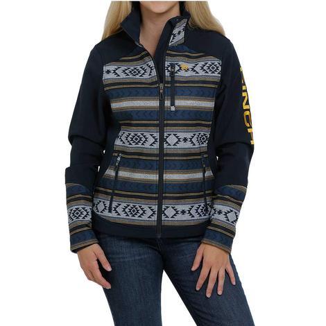 Cinch Navy Aztec Print Bonded Women's Jacket