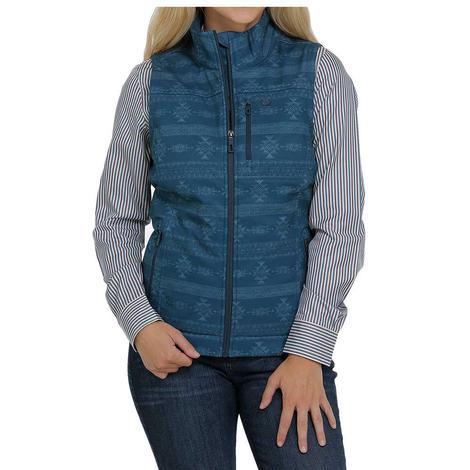 Cinch Teal Printed Concealed Carry Bonded Women's Vest