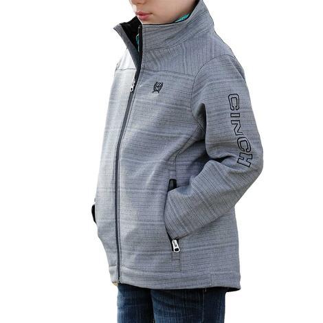 Cinch Grey Textured Boy's Bonded Jacket