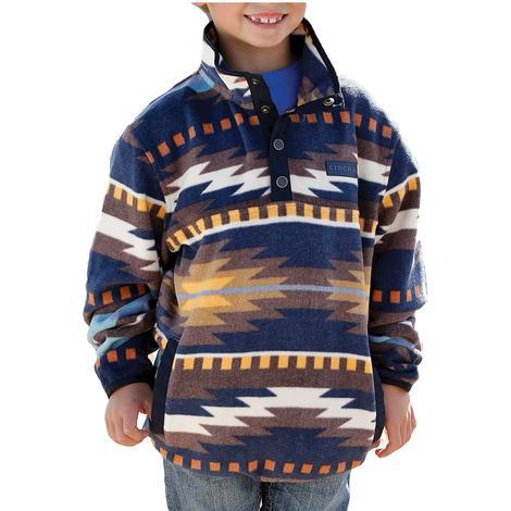 Cinch Multi Print Aztec Boy's Fleece Pullover