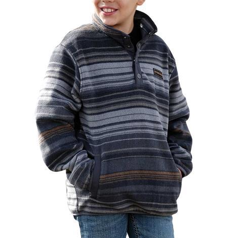 Cinch Blue Stripe Boy's Fleece Pullover