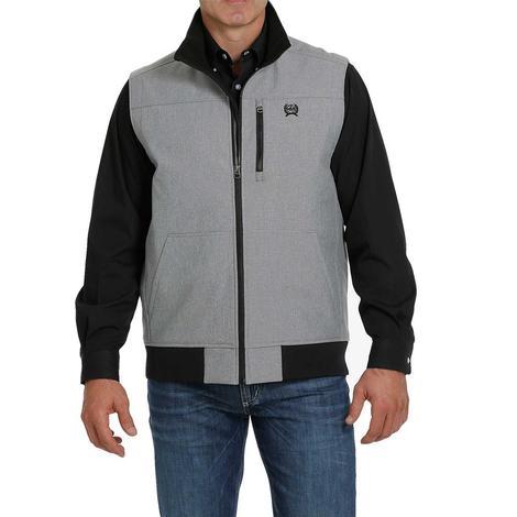 Cinch Grey Black Textured Concealed Carry Bonded Men's Vest