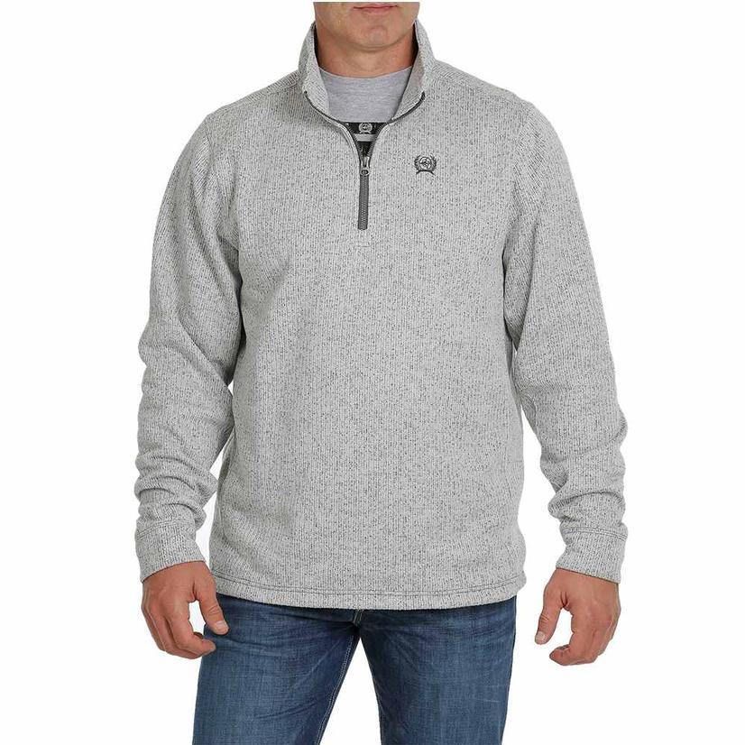 Cinch Grey Sweater Knit Men's Plus Pullover