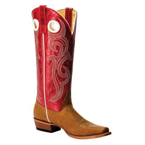 Macie Bean Honey Crazy Horse Red Top Women's Boots