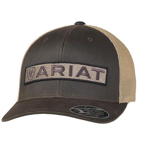 Ariat Brown Tan Meshback Cap