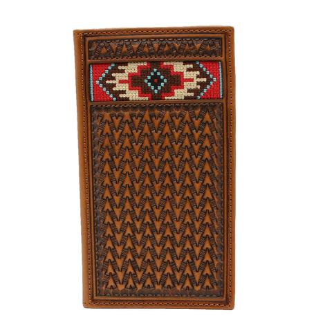 Ariat Tooled And Beaded Rodeo Wallet