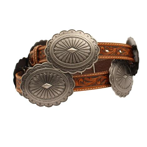 Ariat Tooled and Oval Concho Women's Belt