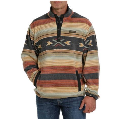 Cinch Multi Aztec Printed Fleece Men's Pullover