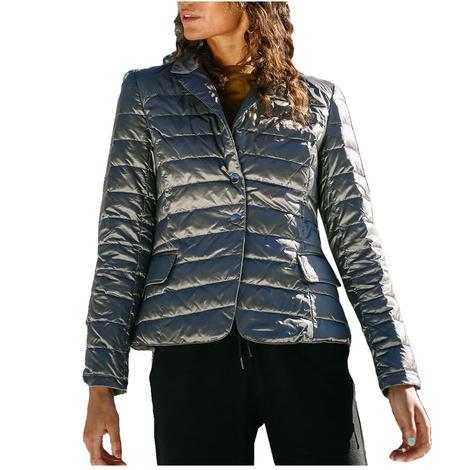 Anorak Down Blazer Women's Jacket in Antique Silver