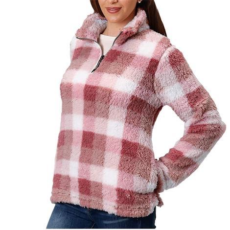 Roper Pink Polar Fleece Women's Pullover