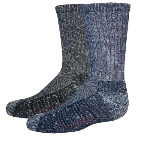 Wrangler Cotton Crew 2-Pack Youth Socks - Denim or Black