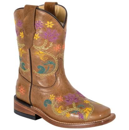 Corral Kids' Multicolor Floral Vine Boots