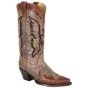 Corral Women's Brown Sequin Eagle Inlay Boots