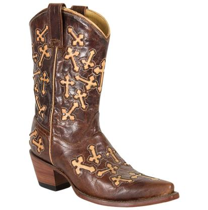 Corral Women's Brown & Tan Cross Boots