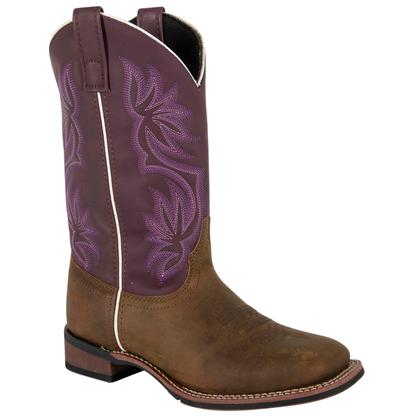 Laredo Cowboy Approved Mesquite Purple Top Brown Women's Boot