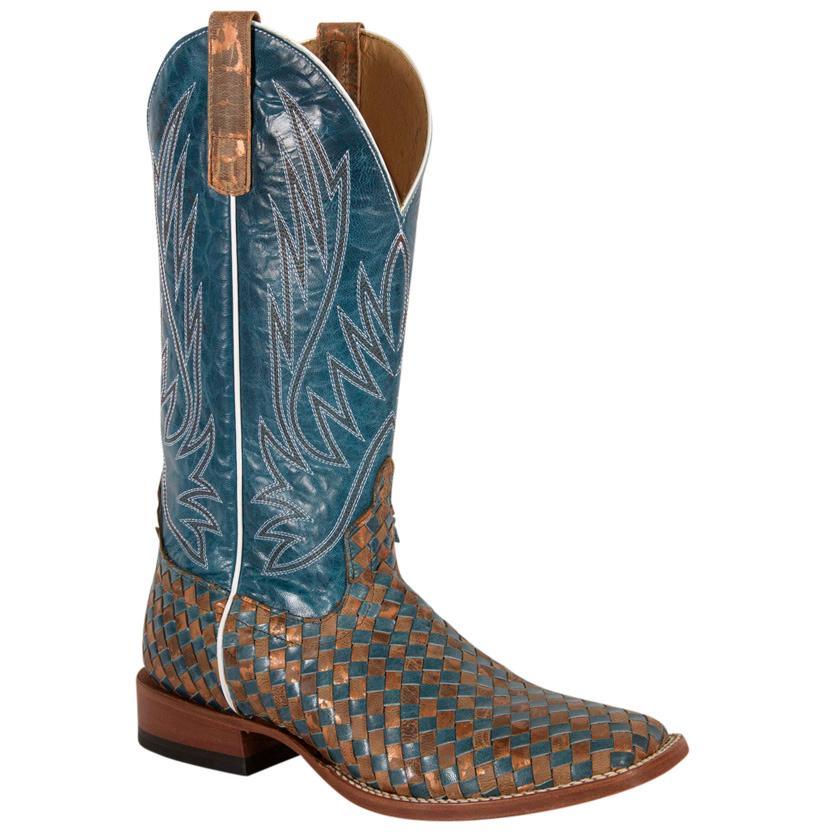 Horse Power Men's Unbeweavable Blue Volcano Cowboy Boot