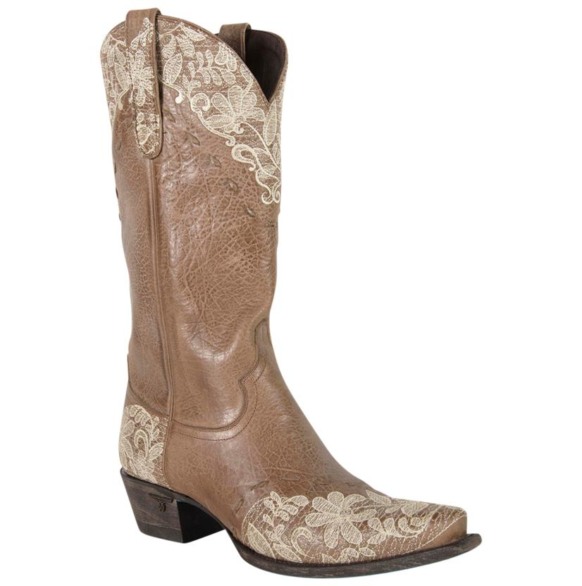 Lane Jeni Tan And Lace Cowgirl Boot