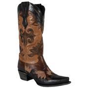 Lane Maggie Vintage Black & Brown Taupe Boots