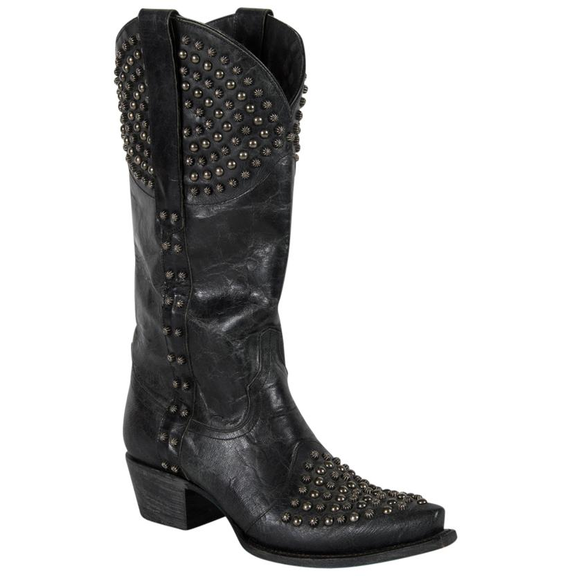 Lane Rock On W/Antique Silver Studs Boots