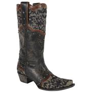 Kimmie Black & Brown Boots