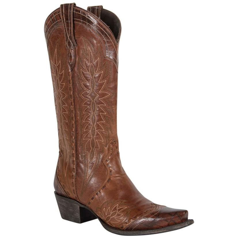 Double D Brown Ramirez Leather And Antique Women's Boot