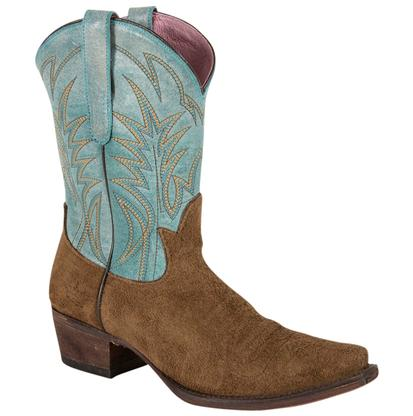 Junk Gypsy Dirt Road Dreamer Brown and Turquoise Top Ladies Boot