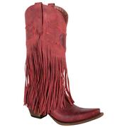 Junk Gypsy The Dreamer Fringed Red Ladies Boot
