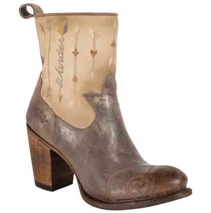 Junk Gypsy The Wanderlust Retro Brown and Cream Ladies Boot
