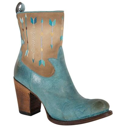 Junk Gypsy The Wanderlust Retro Turquoise and Cream Ladies Boot