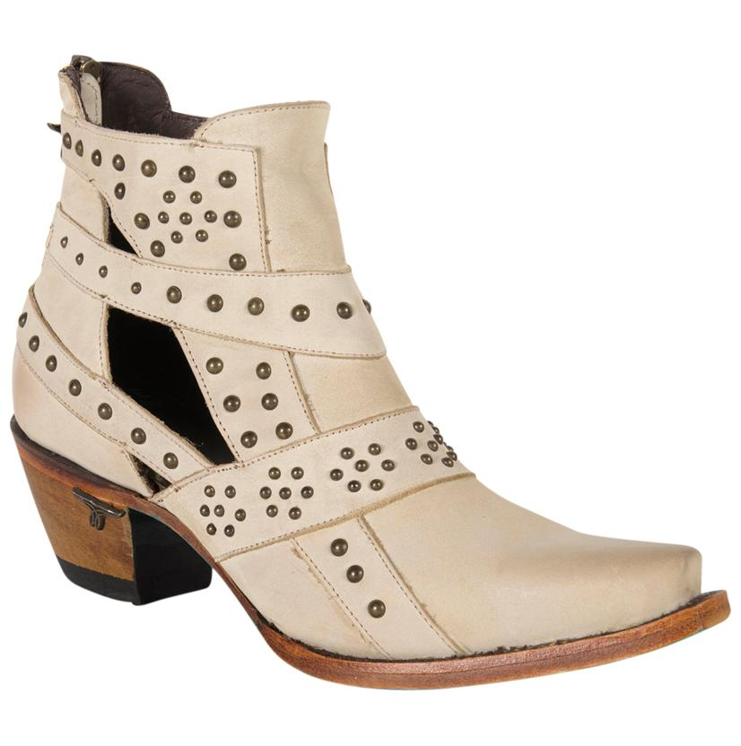 Lane Studs And Straps Bone Boot
