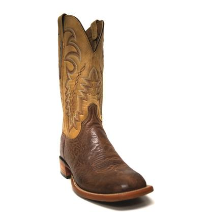 Lucchese 1883 Mens Jeremiah Smooth Brown Ostrich And Burnt Beeswax Boots