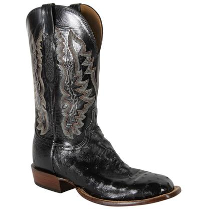 Lucchese Men's Full Quill Ostrich Cowboy Boots