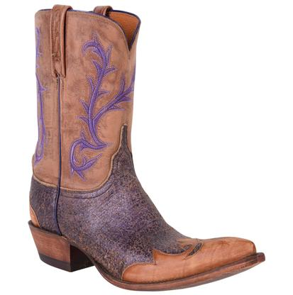 Lucchese Women's Violet Crackle Diva Cowgirl Boots