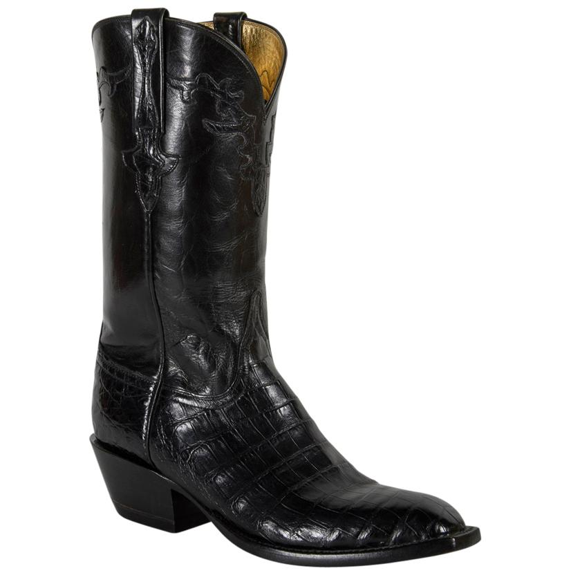 Lucchese Classics Men's Black Ultra Caiman Belly Cowboy Boots