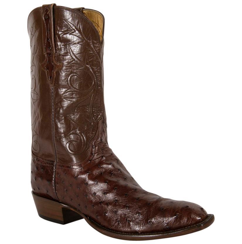 Lucchese Classics Men's Brown Sienna Pin Buffalo Cowboy Boots