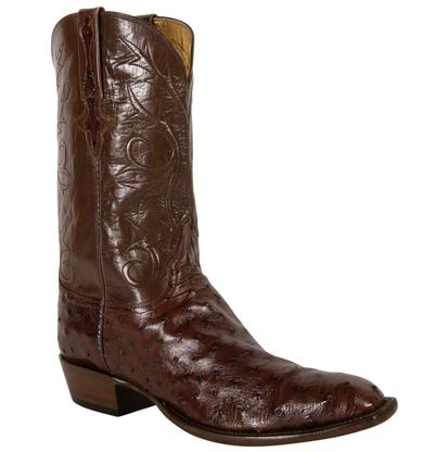 Lucchese Classics Men's Brown Sienna Pin Buffalo Cowboy Boots