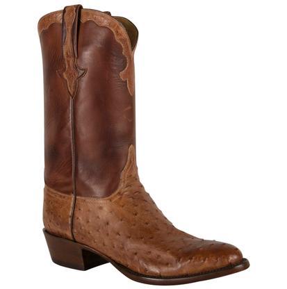 Lucchese Mens Barnwood Pin Burn Ranch Boots